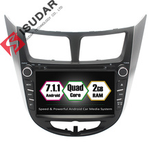 Android 7.1.1 2Two Din 8 Inch Car DVD Player For HYUNDAI/Solaris/Accent/Verna 2011- With 2GB RAM GPS Navigation Radio WIFI