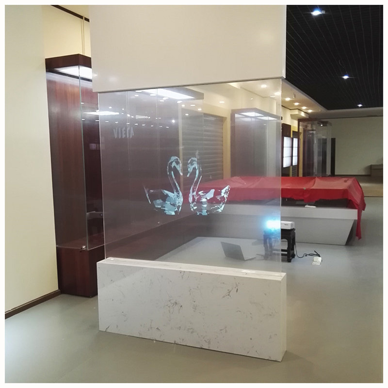 152cmx200cm Transparent Rear Projection Film Clear Rear Projection Materia Film Holographic Film Screen Clarity