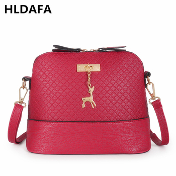 2019 New Female Bags High Quality Pu Leather Soft Face Women Bags Girl Daily Wild Shoulder Messenger Crossbody Bags Shell Bag