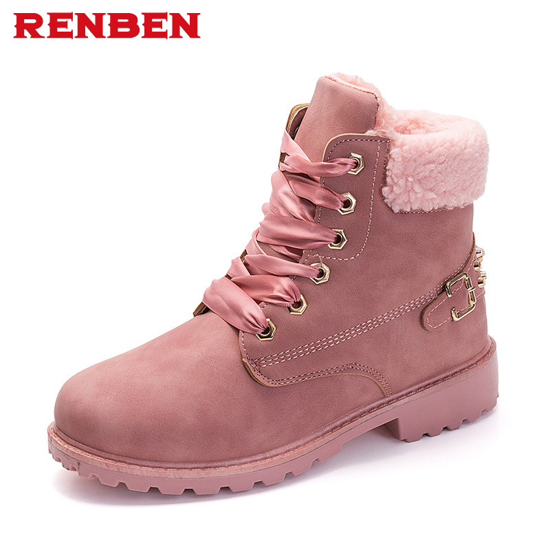 Hot Sale Winter Women Snow Boots Warm Round Toe Comfortable Casual Boots Female Fur Plush High Quality Wholesale