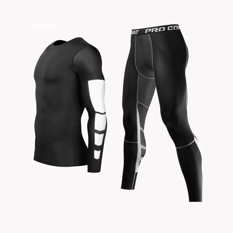 Men MMA Boxing Shorts Compression Pants Rashguard Fitness Long Sleeves Base Layer Skin Tight Men T Shirts цены онлайн