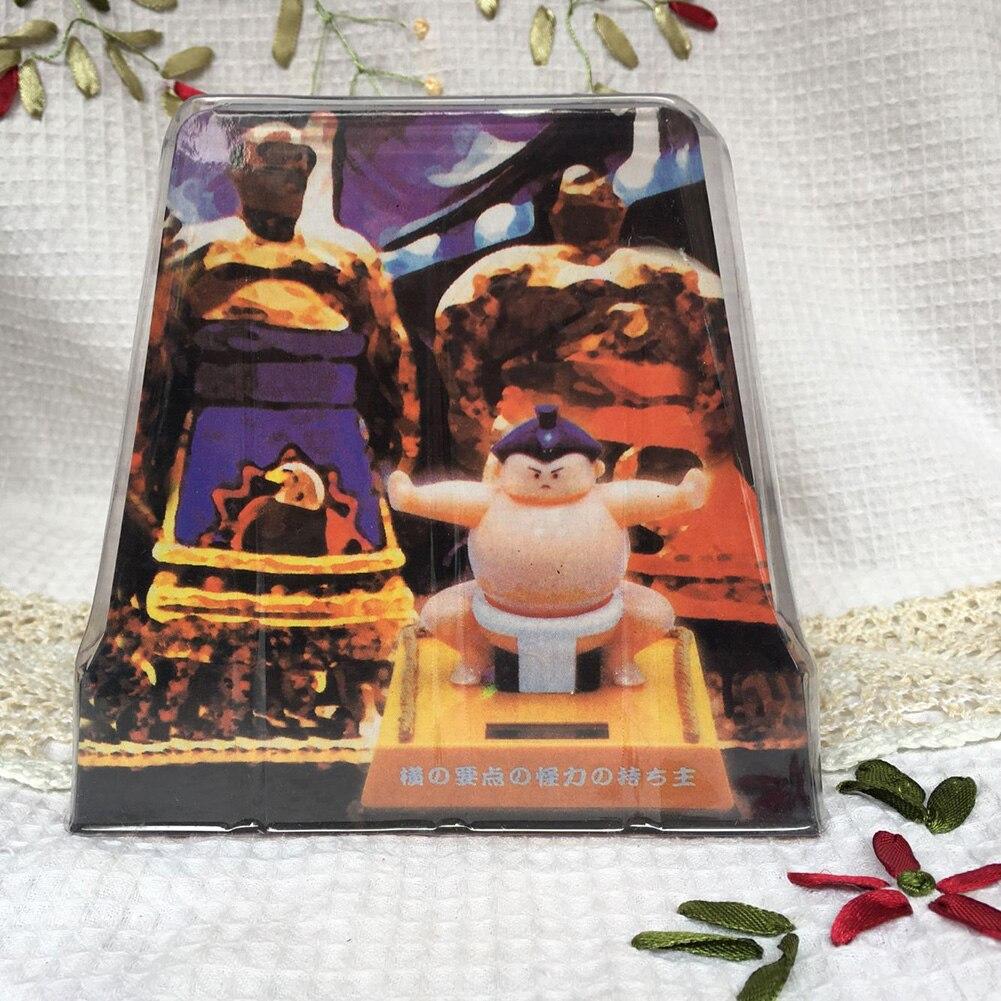 Sumo Wrestler Solar Powered Dancing Bobble Toy Home Desk Car Ornament Xmas Gift