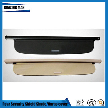 Tonneau cover Car Rear Trunk Security Shield Shade black Beige color cargo cover for SOUL