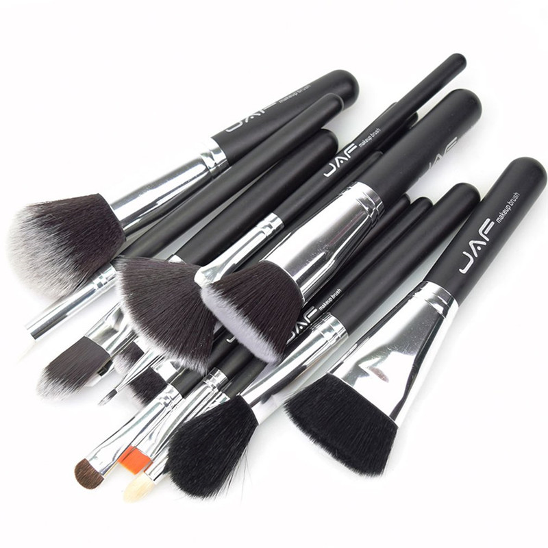 12Pcs/set Wooden Handle Makeup Brush Set pincel maquiagem Eyeliner Eyeshadow Eyelashes Cosmetics Beauty Brush Tool Kit Dropship