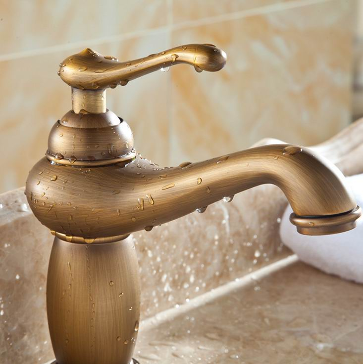 european continental retro antique copper faucet bathroom luxury home decor hotel restaurant rooms water tap free shippingin basin faucets from home