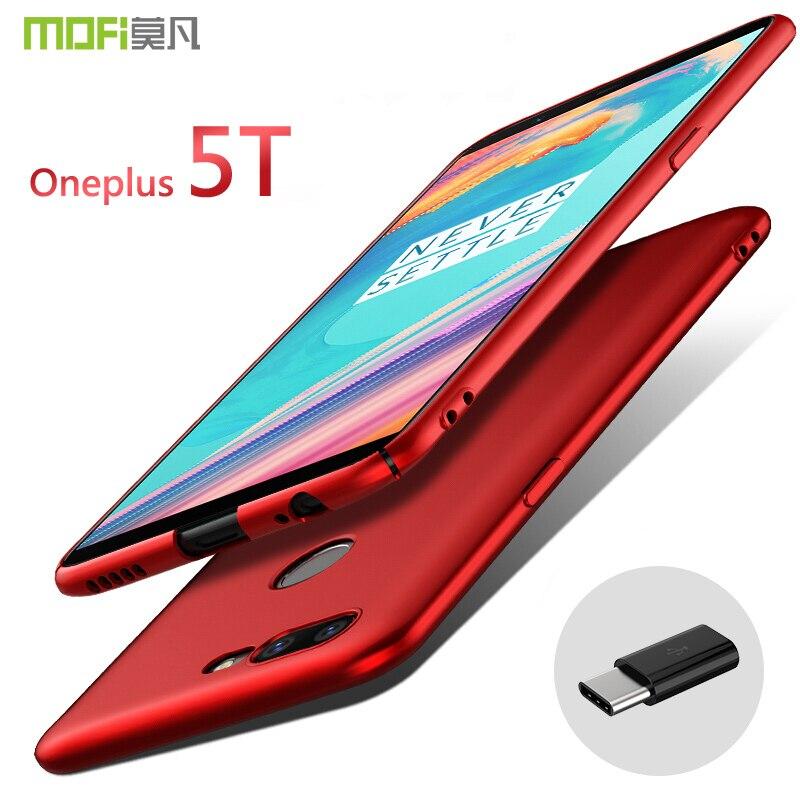Oneplus 5 T Cas Couverture MOFI Oneplus 5 t Dur PC de Couverture Arrière cas funda pour 1 + 5 t Retour Hard Case De Protection pour OP5T Cas capa
