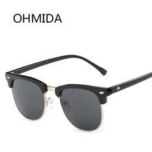 OHMIDA Medio Clásico de Metal Gafas de Sol Hombres Mujeres Marca Diseñador Gafas de Sol de Espejo Gafas de Moda Gafas De Sol UV400 Oculos 1200