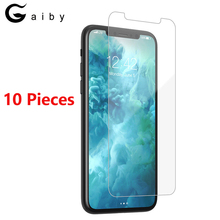 купить Protective Glass For iPhone X XS MAX XR 6 6S 7 8 Plus Screen Protector For iPhone 5 5S 5C SE Glass 9H Safety Film 10 Pieces /Set дешево