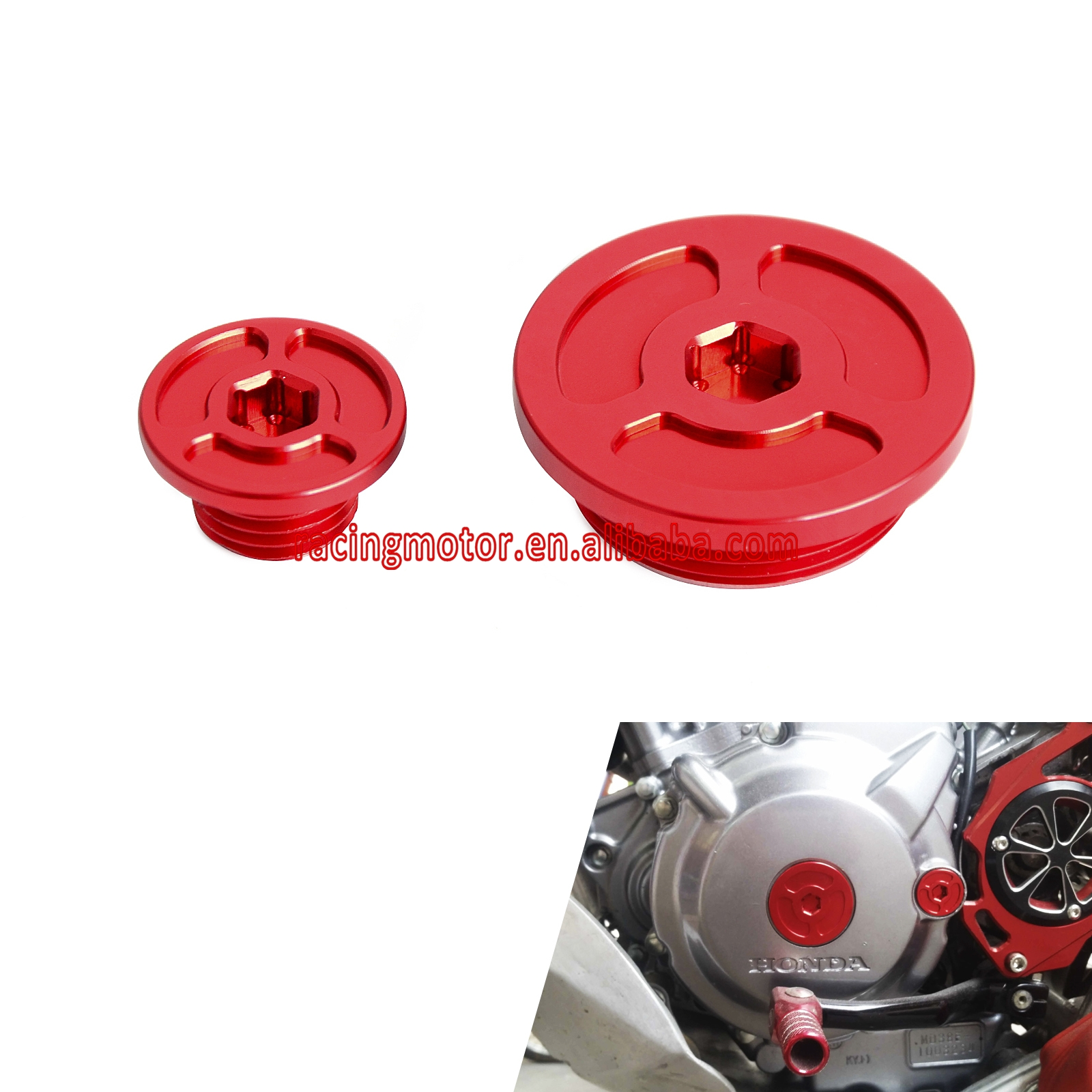 Billet Red Engine Timing Plugs Bolts For Honda CRF250L CRF250M 2012 - 2015 2013 2014 CRF250 L M billet rear hub carriers for losi 5ive t