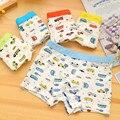 10 peças/saco meninos calcinha modal cuecas boxer menino carros dos desenhos animados impressão multicolor bebê meninos cuecas, 1-8 anos de idade cuecas menino
