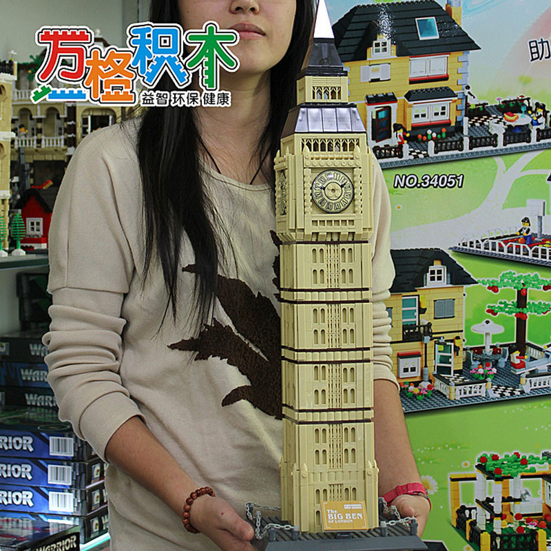 ФОТО WanGe 8014 London Big Ben 1642Pcs Building Block Large model DIY Educational Bricks Toys Gift For Children