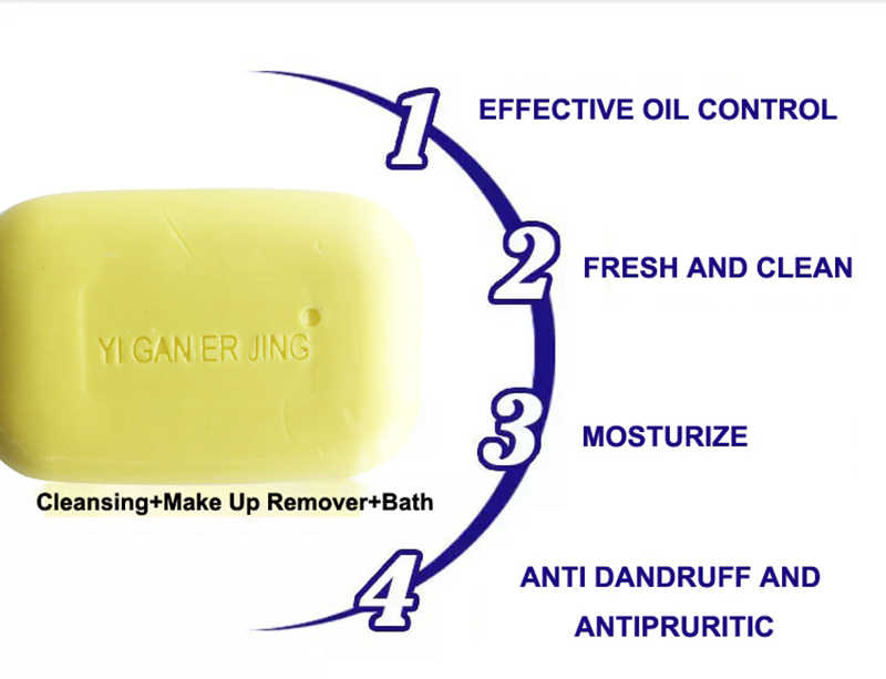 YIGANERJING Sulfur Sabun Kondisi Kulit Efektif Menghilangkan Mengupas Pengobatan Psoriasis Eksim Anti Jamur Gelembung Sabun Mandi