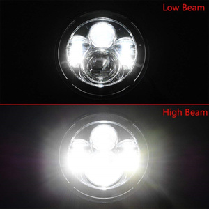 Image 5 - 7 Inch LED Headlight For Harley Motorcycle Tour FLD  Softail Heritage Street Glide Road King Electra Glide for Jeep Wrangler