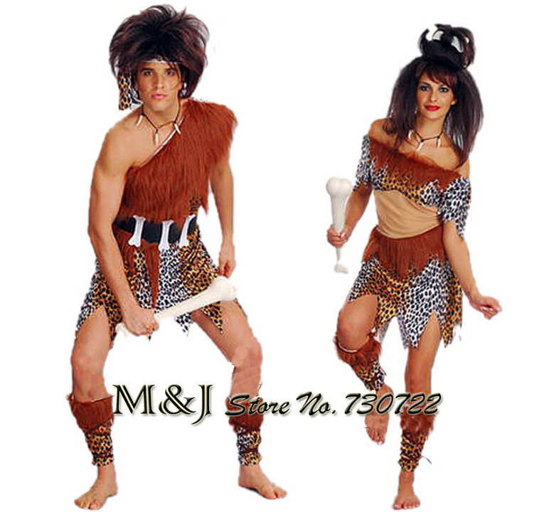 Couples Christmas Party Ideas Part - 41: Halloween Adult Couples Savage Suit Masquerade Christmas Crazy Primitive  Bar Party Supplies Leopard Savage Costume On Aliexpress.com | Alibaba Group