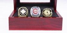 Оптовая Великолепная Кольцо комплектов Реплика Бейсбол Медь Высокого Качества 1907 1908 2016 Чикаго Кабс Чемпионат Кольцо с деревянной коробке