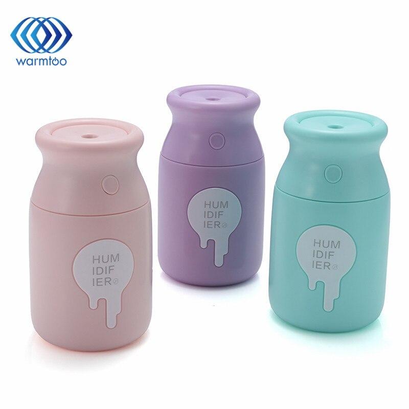 180ML Milk Bottle Mini font b Humidifier b font 3 Colors DC 5V USB Air font