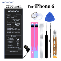 Original NOHON Battery For Apple IPhone 6 6G IPhone6 2200mAh Replacement High Capacity Phone Bateria With