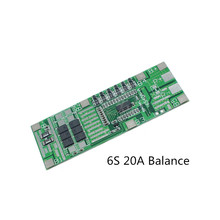 6S 22V24V20A BMS Board with Balanced Power Tools Solar lighting 18650 Lithium battery protection board Integrated BMS