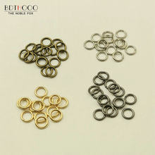 20Pcs/lot D Buckles rings for bag accessories 2 points DIY Rings Hook Chain for Bag Key Metal Bag Accessories Wholesale(China)