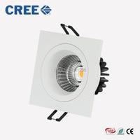 Super Bright Recessed LED COB Downlight Dimmable Square 7W 9W LED Spot light LED Ceiling Lamp AC 110V 220V White Warm White SAA