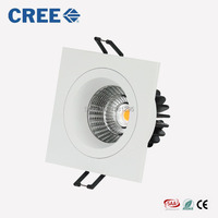 Super Bright Recessed LED COB Downlight Dimmable Square 7W 9W LED Spot light LED Ceiling Lamp AC 110V 220V White Warm White SAA