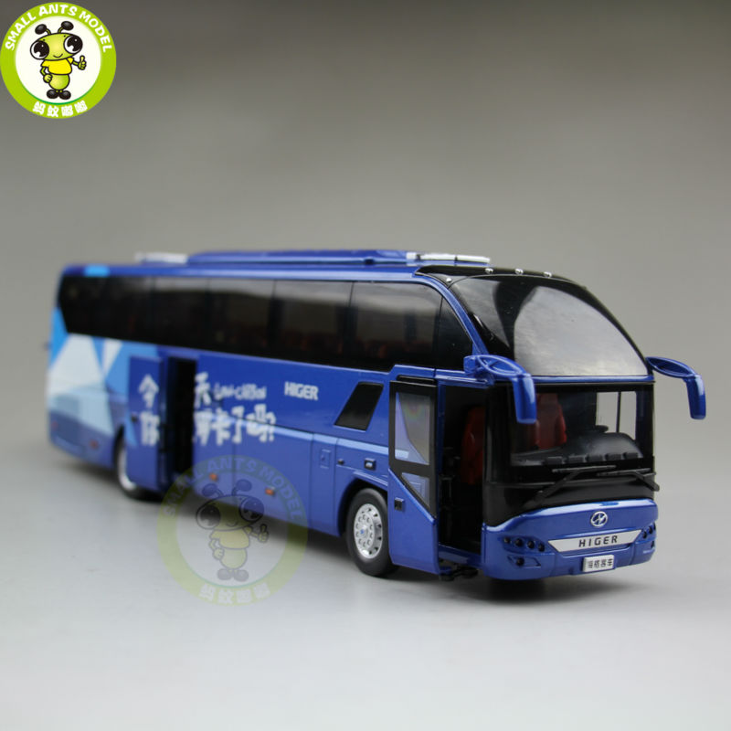 1:43 Scale Bus Coach Models Gold Dragon Higer KLQ6125 Low-Carbon Bus China Bus Model 1 38 china gold dragon bus models xml6122 diecast bus model blue