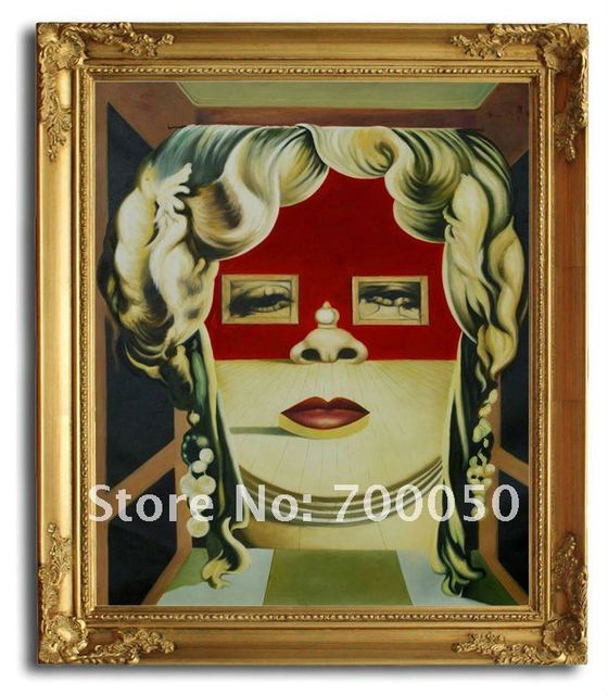 free shipping wooden oil painting frames ii volto di mae west dali art 20x24 - Wholesale Arts And Frames