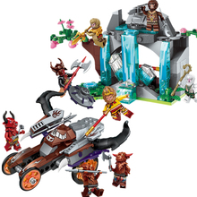 ENLIGHTEN Journey West Robbery Chariot Gyro Waterfall Rockery Marvel Building Blocks Kits Toys Compatible Nexus Ninja lepin nexo knights axl jestros volcano lair combination marvel building blocks kits toys figures compatible nexus 181
