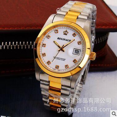 HK Brand Crown Reginald Of Top Quality Waterproof Quartz Watch Between Gold Steel Quartz Wristwatches