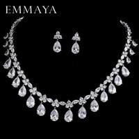 EMMAYA Brand New Women Wedding Jewelry Sets aaa Cz Crystal Statement Jewelry for Women