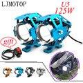 Светодиодный светильник для мотоцикла U5  12 В  фара для вождения  вспомогательная фара для kawasaki versys 650 z900 z1000 suzuki 650 africa twin