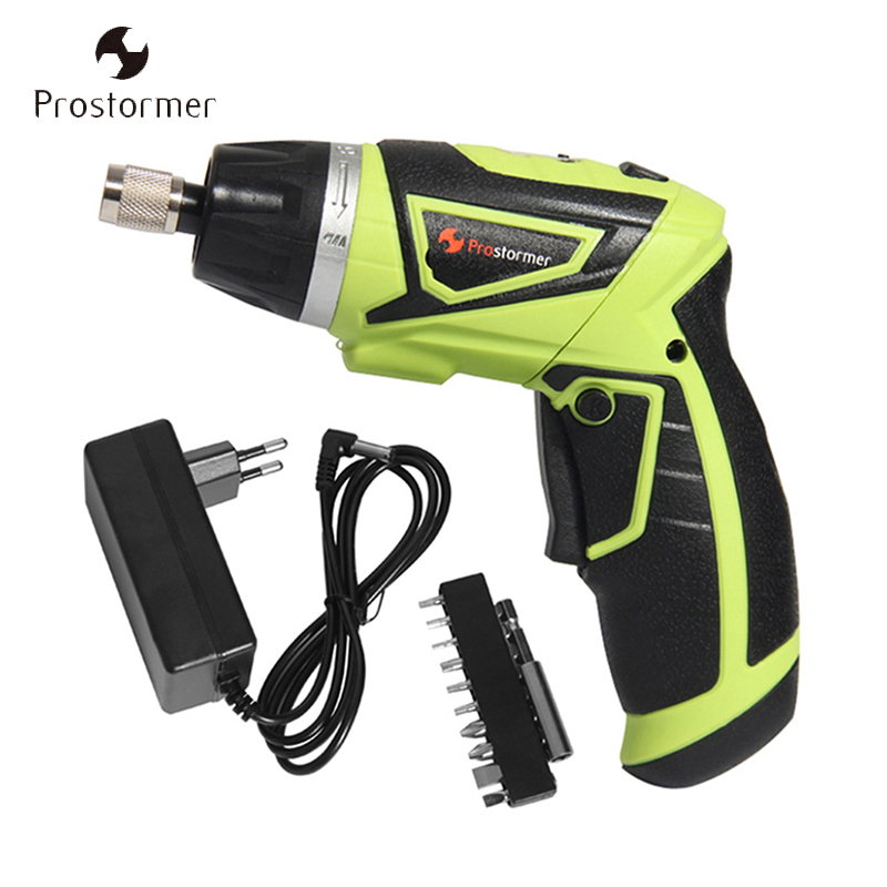 Prostormer 7.2V Multifunction Electric Screwdriver Drill Rechargeable Li ion 18650 Battery Electric Lithium battery Power tools