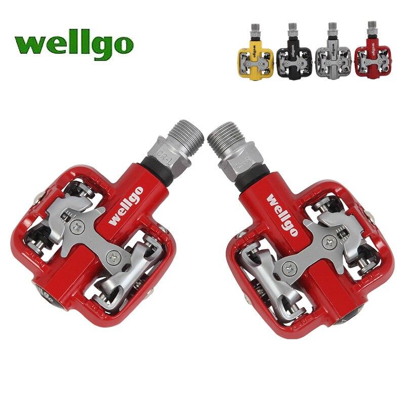 Vente CHAUDE Wellgo WM001 Auto-Verrouillage Clipless Alliage De Magnésium VTT Vélo Pédales Livraison gratuite