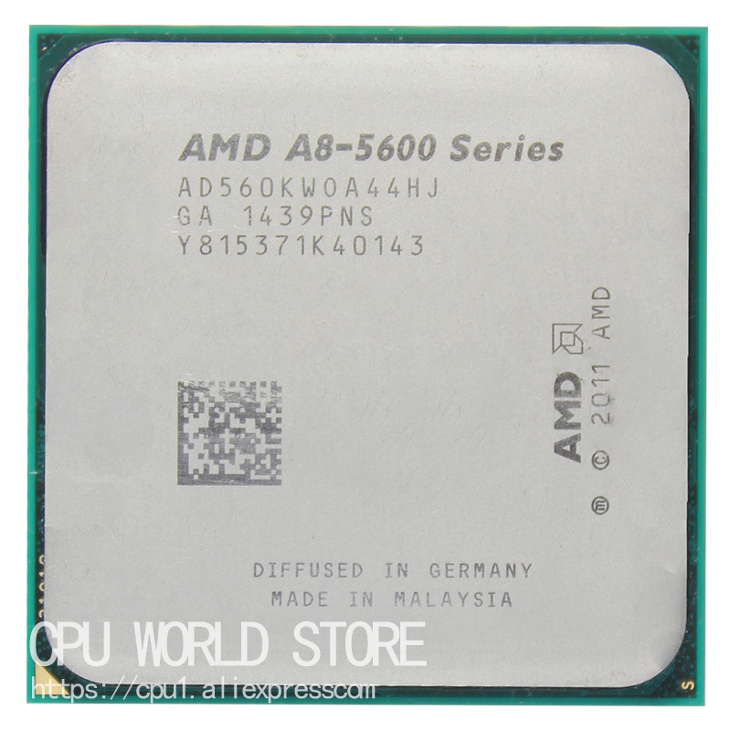 AMD A-Series APU X4 A8-5600K A8 5600K 3.6GHZ 32NM 100W Socket FM2 Quad-Core CPU Processor