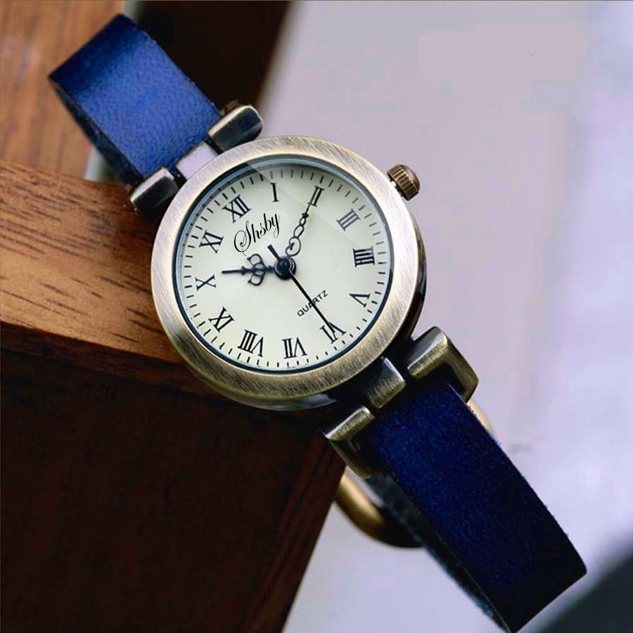 Shsby New fashion laris kulit perempuan menonton ROMA vintage yang - Jam tangan wanita - Foto 5