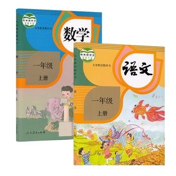 2Books Chinese Primary Textbook For Student Chinese Math Textbook Tutorial book Grade One Volume 1