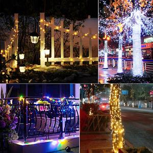 Image 5 - LED Strip 5M 10M 20M LED Fairy Light String Outdoor Garland Christmas Wedding Party Decoration Solar USB Power Copper Wire lamp