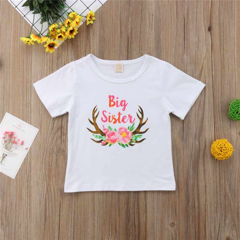 3c206cb29042e US $2.99 20% OFF Family Matching Clothes Christmas Outfits Little Big  Sister Clothes Baby Girl Bodysuits Kids Girls T shirt Children Clothes 0  6Y-in ...