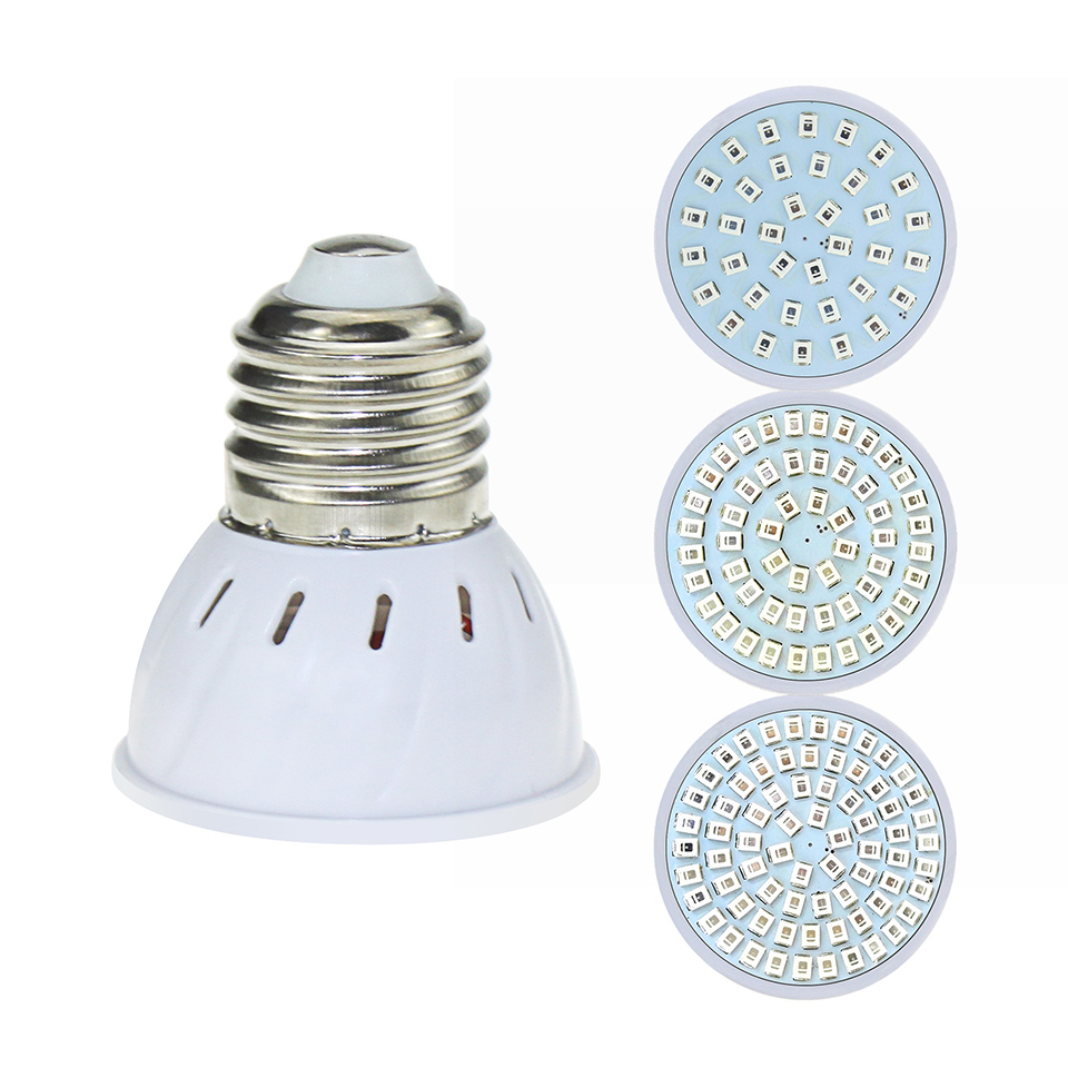 10pcs LED Grow Light Full Spectrum 36 54 72 LEDs Hydroponic system Greenhouse aquarium LED Indoor grow tent Lamps for plants in LED Bulbs Tubes from Lights Lighting