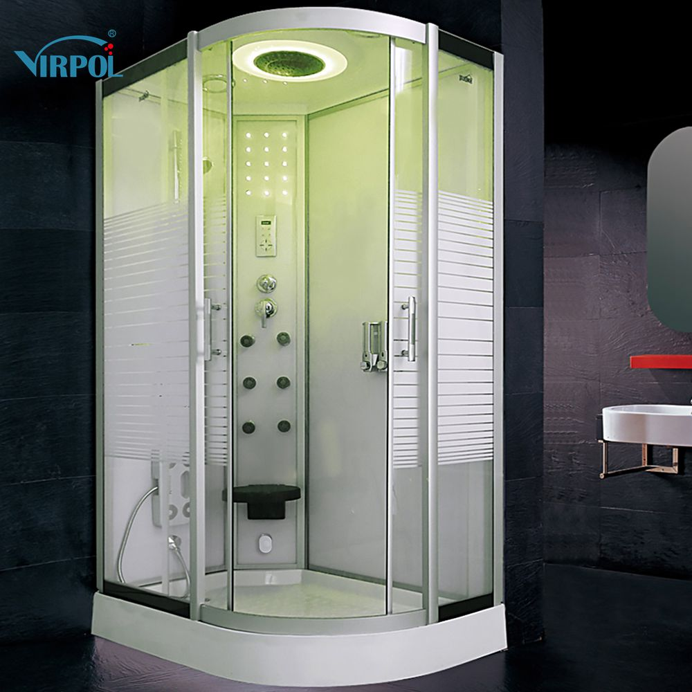 80X120CM Bath Hydro Shower ROOM White WITH Steam cabin douche cabine ...