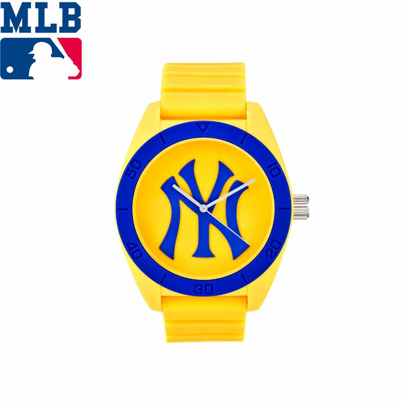 MLB NY Fashion Simple Cool Watches Rubber Waterproof Lover Watches Men Women Quartz Sport Student Wrist Watch ClockD5001 mlb ny fashion luxury wrist watches waterproof luminous hands stainless steel men watch quartz casual sport wrist watch d5014