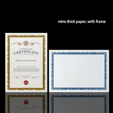 Gold silver retro stamping high grade blank paper card 15 sheets bag a4 certificate printable paper