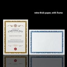 Хорошее Золото/серебро Ретро штамповка полноценно пустой бумага/карта 15 листов/сумка A4 сертификат печати бумага DIY для детей/сотрудника