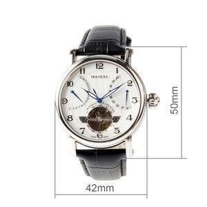 Image 2 - Martı Volan Retrograd Tarih 40 Saat Güç Rezervi Guillochlu Sergi Arka Otomatik erkek saati 819.317