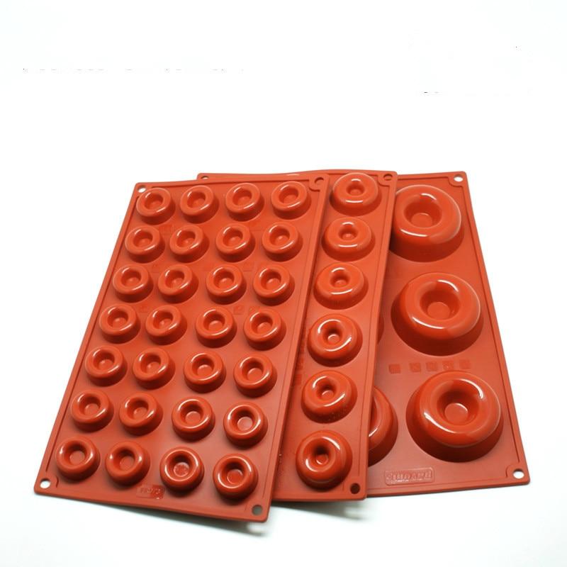 1pc Baking Tools Mini Donut Pan Non Stick Silicone Mold