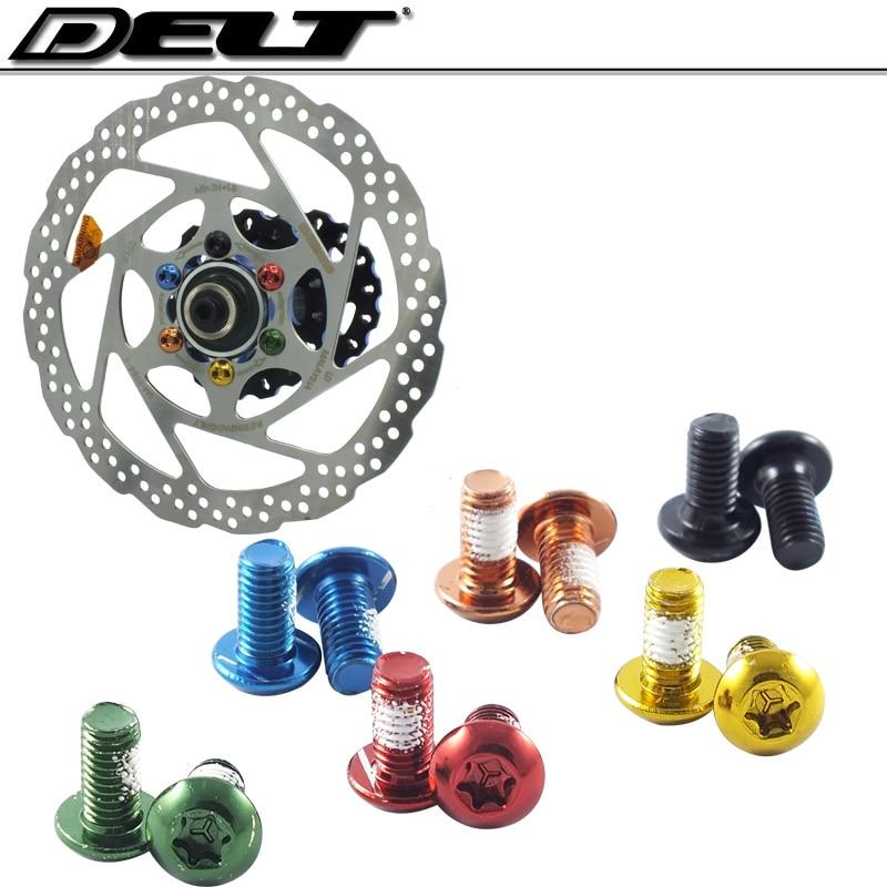Titanium Ti  MTB Torx Bike Disc Brake Rotor Bolts M5 x 10mm Set of 12