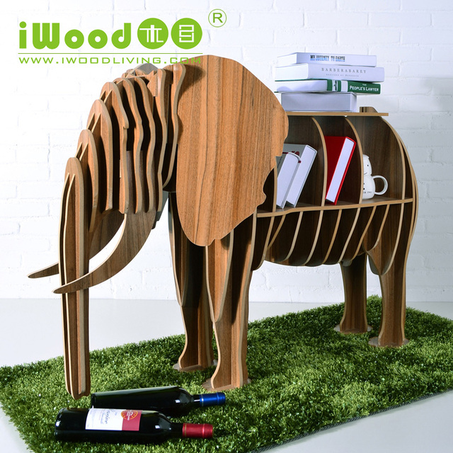 Factory direct European Nordic craft ornaments creative home decoration elephant wood crafts wooden ornaments free shipping
