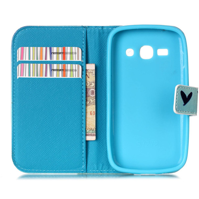 Leather For Samsung Galaxy ACE3 ACE 3 III S7270 7270 S7272  S7275 S7278 Phone Cover Case