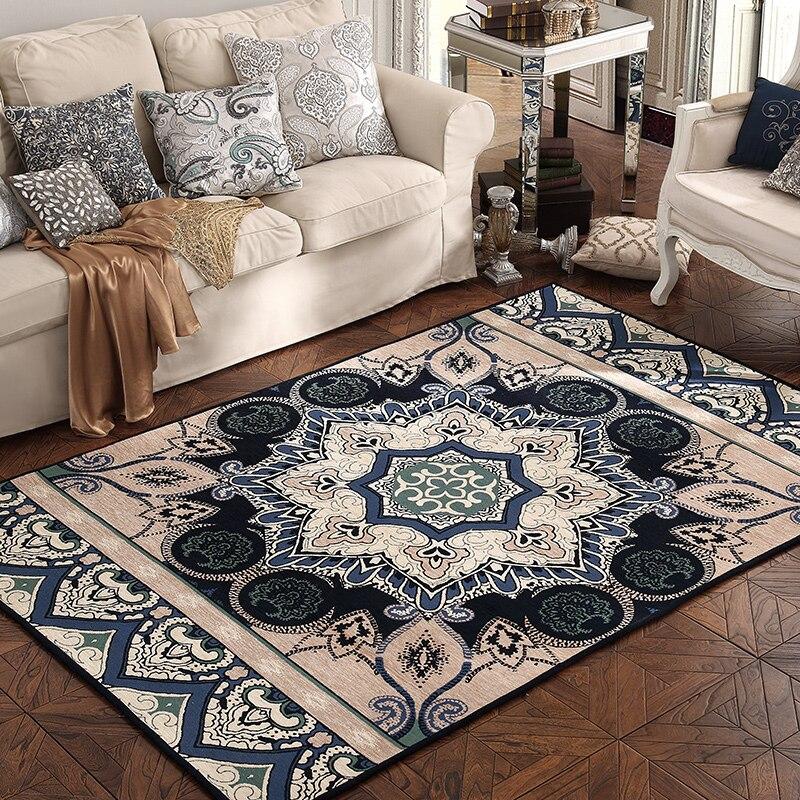Haute qualité tapis Chenille matériel rouge Beige bleu chambre salon canapé tapis de sol