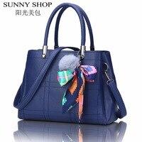 SUNNY SHOP 2017 Vintage Leather Bags Handbags Women Famous Brands Shoulder Bag Ladies Hand Bags Solid